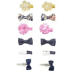 12 Piece Toby & Company Girls Fabric Bows Sparkle